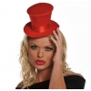 Mini Burlesque Top Hat - Red